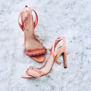 Aldo fringe strappy heels